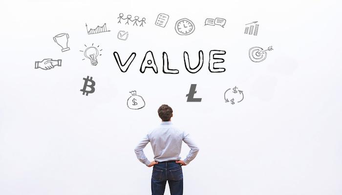 o valor das criptomoedas